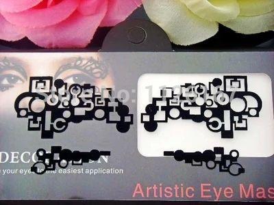 (Min order 5$) hot sale fashion paper cutting eye stickers eyeliner rayal luxury high quality false eyelashes free shipping