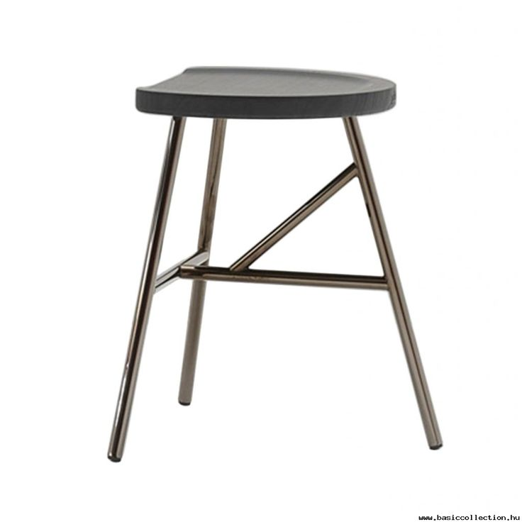 Puccio stool #basiccollection #stool #wooden #metal #furniture #design #3legs