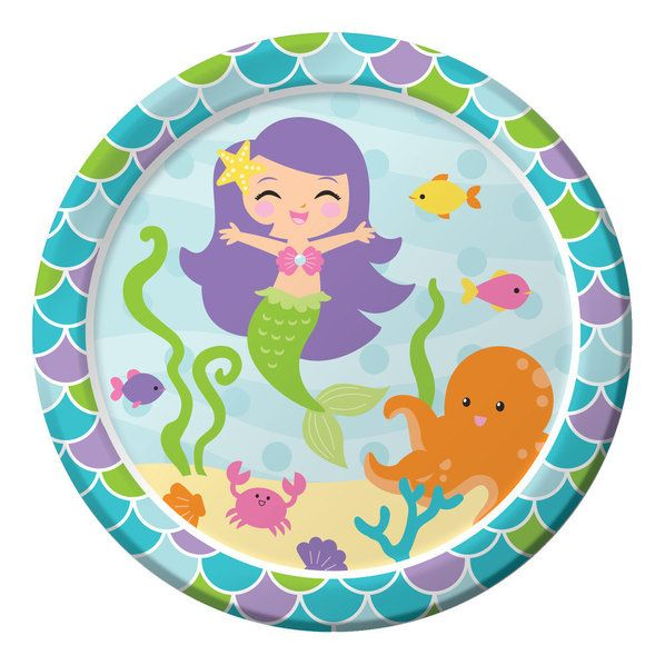 Check out Mermaid Friends 9 Lunch Plates (8 Count) - Wholesale Party Supplies from Wholesale Party Supplies