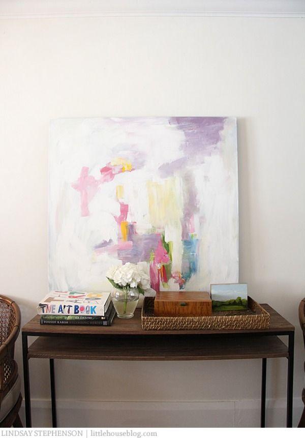 Cuadros Abstractos Colores Tonos Pastel Arte Y Escultura