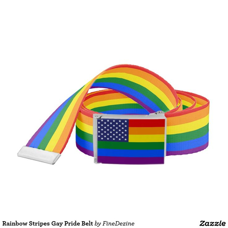 Rainbow Stripes Gay Pride Belt