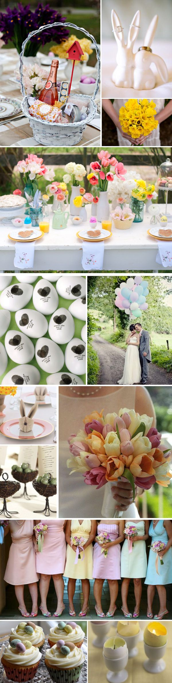 Easter Wedding Inspiration Board-ring holder from Urban Outfitters!