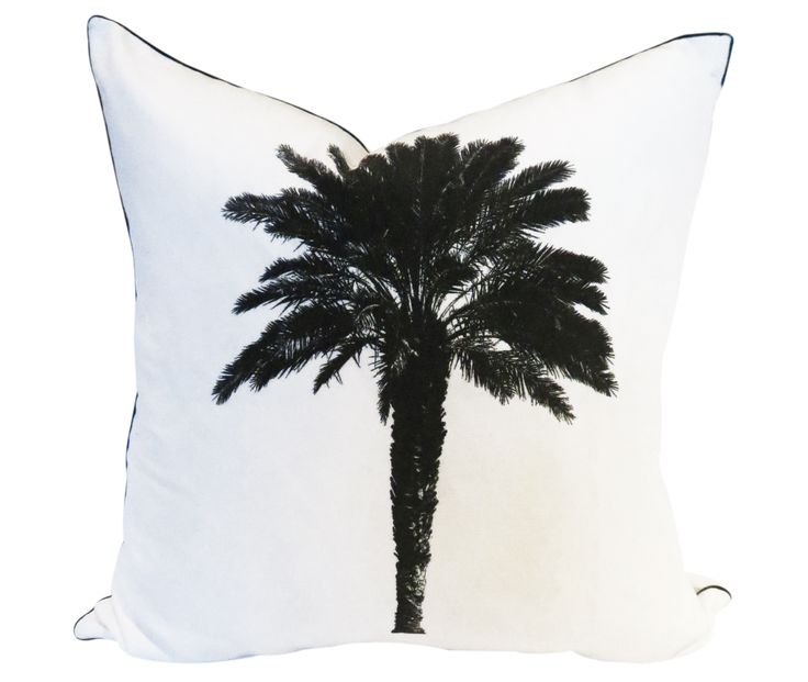 Palm Tree Scatter Cushion by Phlo Studio. 60cm x 60cm. From R300.00. Shop online at www.phlostudio.co.za . For orders outside South Africa email us at info@phlostudio.co.za