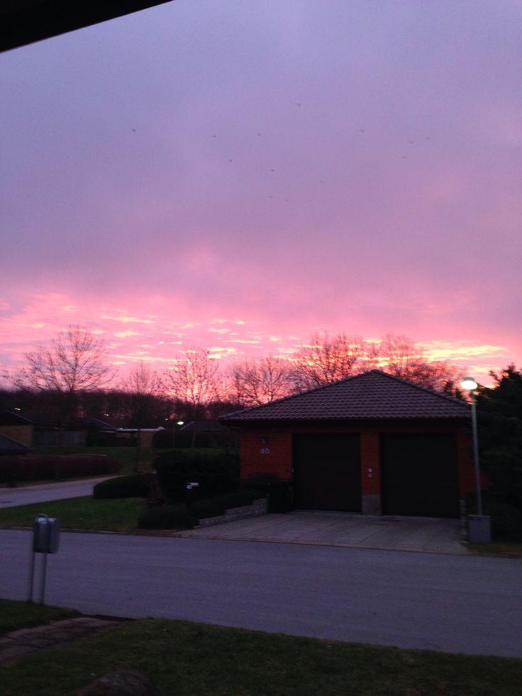 Sun sets beautifully in DK in March <3