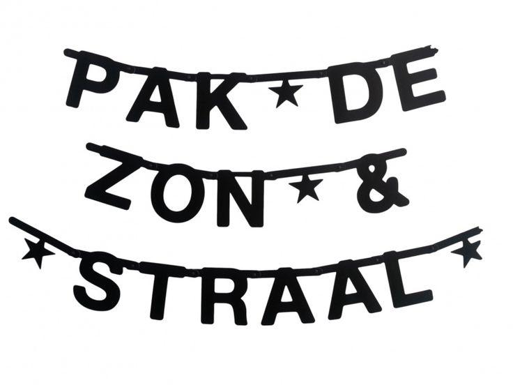DIY, Make your own banner, zwart - OMM design   hipgemaakt