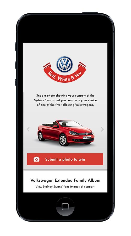 Project: VW & Sydney Swans - Win a Car, competition site. Role: Producer. Agency: Tribal DDB.