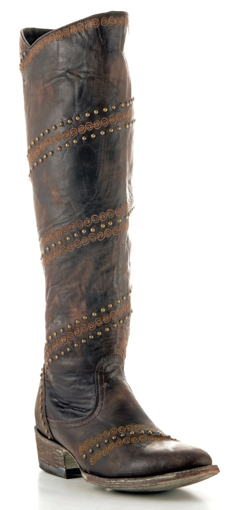 Womens Old Gringo Ardora Boots Chocolate #L1060-4