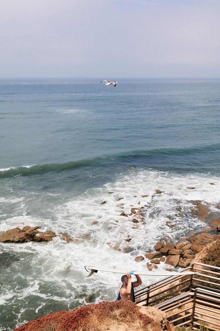The waters off of Sunset Cliffs on Point Loma are well loved by the San Diego surfing community.