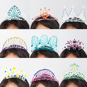 DIY for NYE = 3D Tiaras, Created by the One and Only 3Doodler
