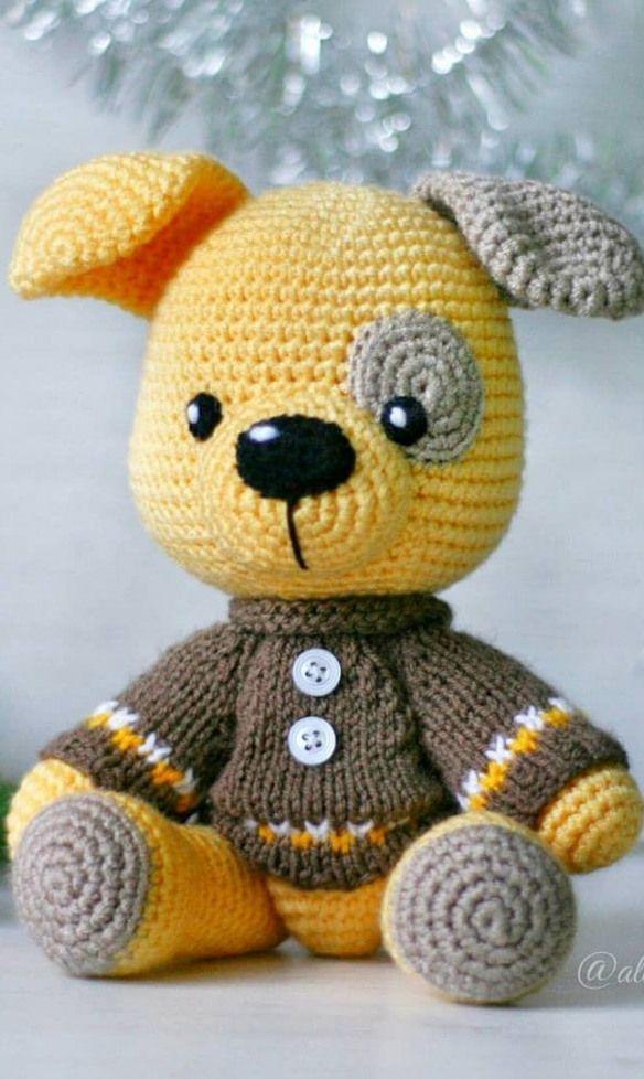 24 Amigurumi Doll Pattern Ideas. Crochet brown do toy. Easy ... | 978x584