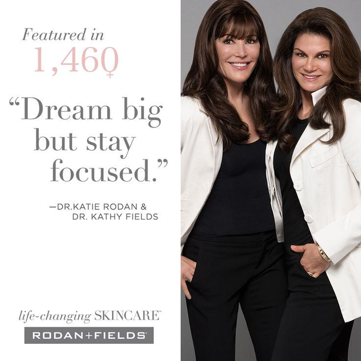 """Put your aces in their places. Dream big but stay focused. Integrity is everything and must never be given away…"""" Wise words Dr. Katie Rodan and Dr. Kathy Fields live by as featured on 1,460 Women. Follow the link to read the Doctors' and other inspiring women's stories: https://www.1460women.com/profiles. #LifeChangingSkincare"""