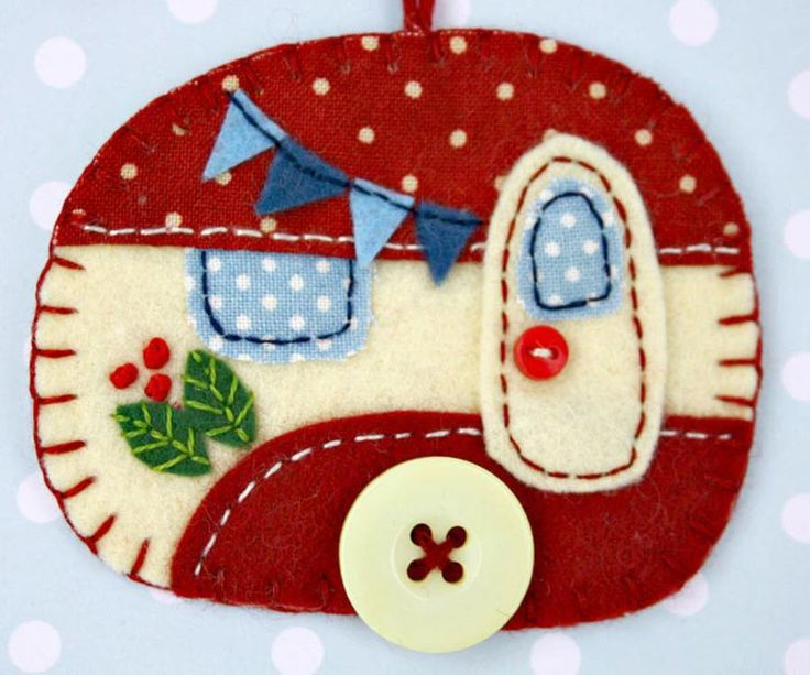 Felt Caravan Ornament, Trailer Christmas Ornament