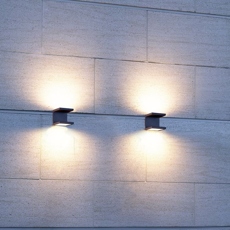 a led outdoor wall mount from the rail collection