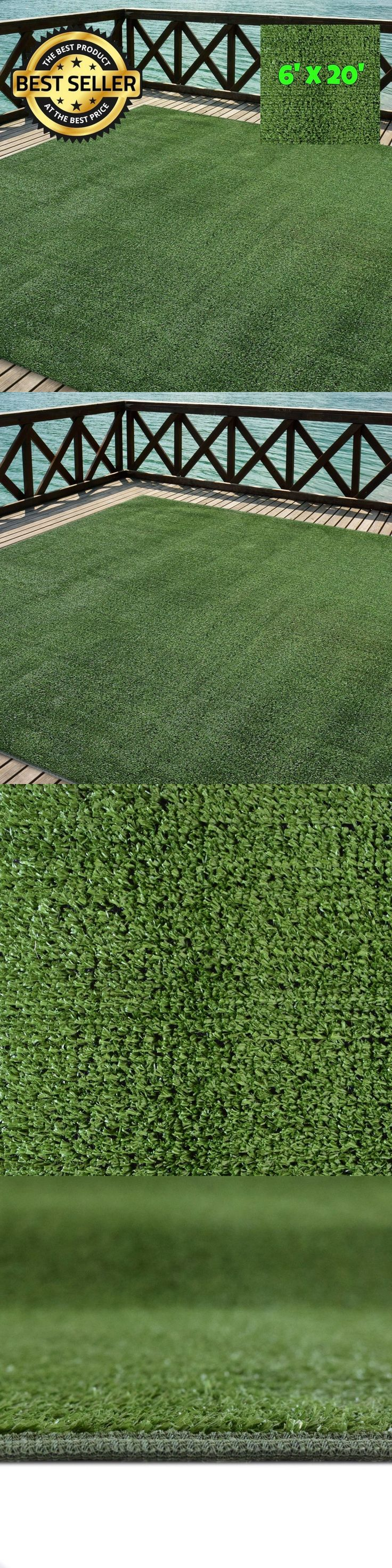 Synthetic Grass 181031: Outdoor Turf Rug Green Artificial Grass Indoor Deck Patio Carpet Mat 6 X 20 -> BUY IT NOW ONLY: $133.59 on eBay!