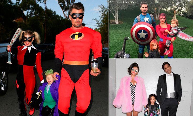 ¡Todo por sus hijos! Los famosos y sus divertidos disfraces de Halloween
