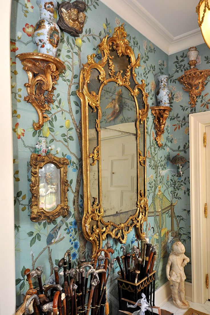 Hand painted Chinoiserie wallpaper at the Norcliffe estate, Seattle. OMG this is so beautiful!!