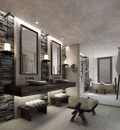Such an amazing bathroom. I love everything about it #bathroom #design