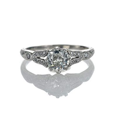 Replica Edwardian Engagement ring, 1906-12 (Leigh Jay Nacht Inc.)