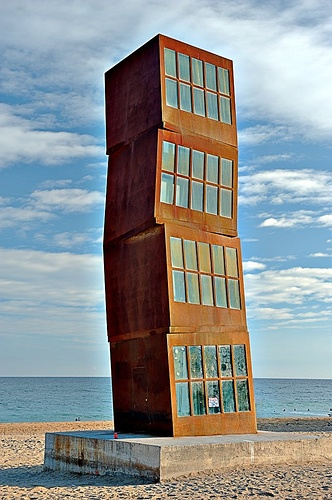 Homenatge a la Barceloneta (Homage to Barceloneta) is a work by German artist Rebecca Horn, on display along the Barceloneta beach (Barcelona)