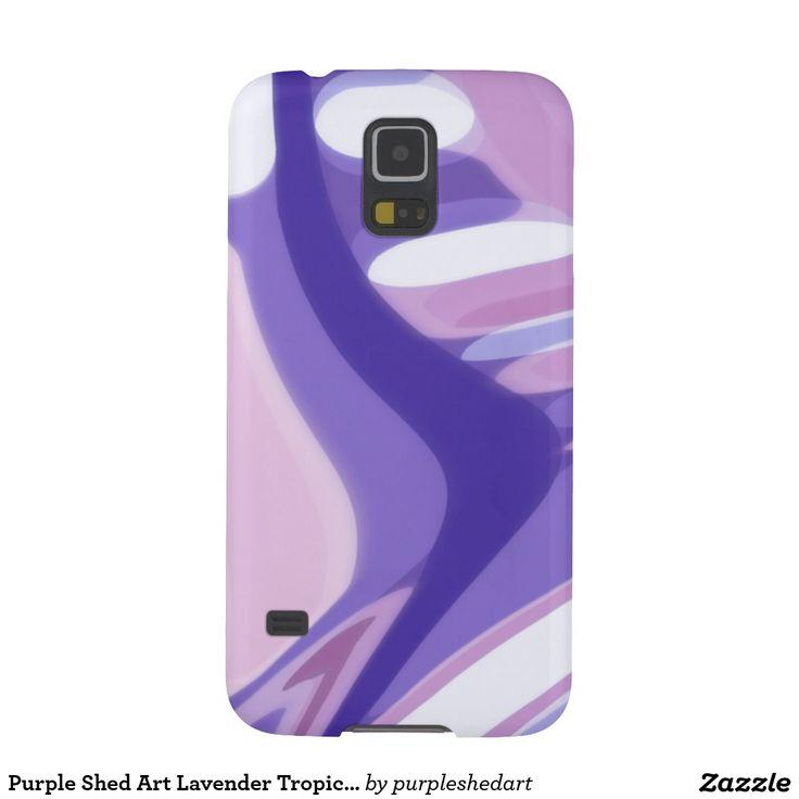 Original, custom design,  phone cases. Be different.  Purple Shed Art - Lavender Tropics Design - Cell Phone Case.
