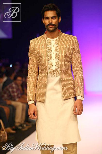 Debarun Indian wear for men! Fashion has no limits! #fashion #no #limits #nolimits #brown #design #patterns #jacket #Debarun #indian #wear #international #noboarders #dresshowyourfeel #howdoyoufeel #today #high #fashion