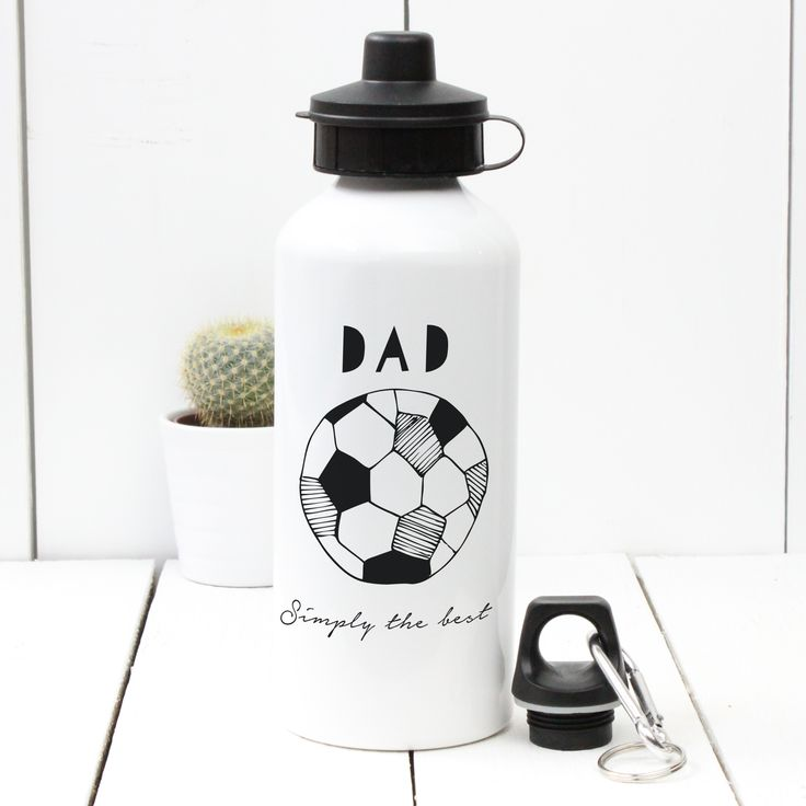 A Piece Of - Personalised Water bottle, sport, football, activity, Fathers day £13.50 (http://www.apieceof.co.uk/personalised-hand-drawn-water-bottle/)