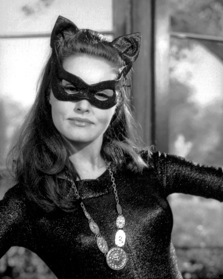 Julie Newmar as Catwoman. Fierce, and the most amazing posture. Yes, I will do those yoga stretches right now.