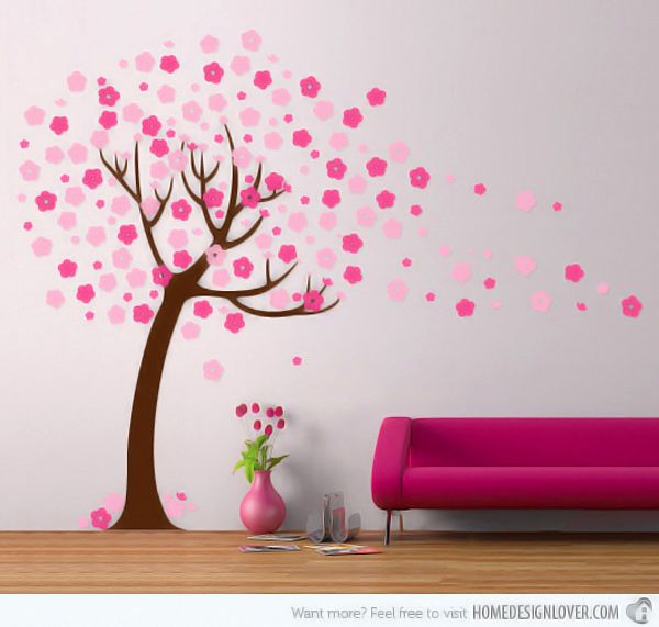 teen girls rooms wall stencil cherry blossom - Google Search