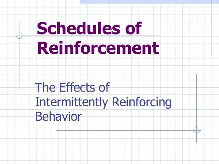 schedules of reinforcement | ABA | Pinterest