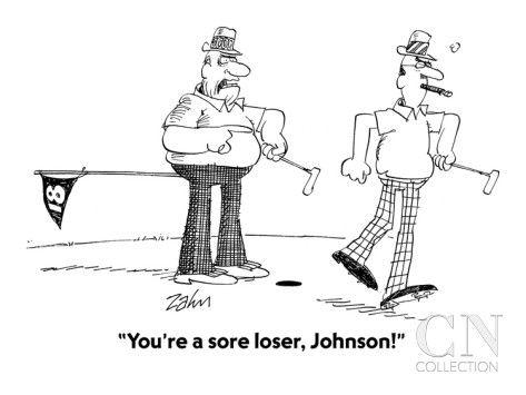 """You're a sore loser, Johnson!"" - Cartoon Poster Print by Bob Zahn at the Condé Nast Collection"