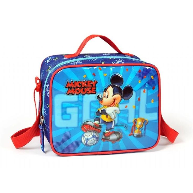 Lunch Kit with Mickey Mouse Emroidery Printing