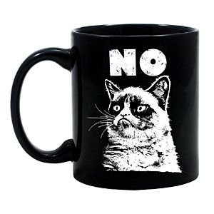 $9.99 Grumpy Cat No Mug •Say no to everything but coffee  •Officially licensed Grumpy Cat collectible  •Materials: Ceramic (microwave safe)  •Capacity: 8 oz  •Hand wash for longest artwork life