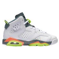 Jordan Retro 6 - Boys' Grade School - White / Light Green