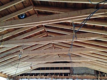 Vaulted Ceiling Construction With Collar Ties This Is