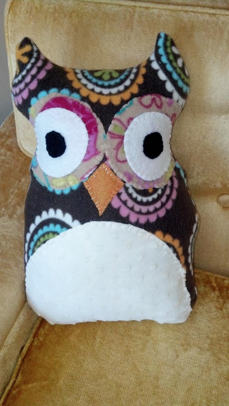 How To Make Cute Owl Pillows : Owl pillow! So cute Owl Pillows Pinterest So cute, Owl pillows and Owl