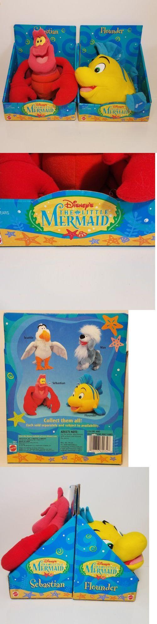 Little Mermaid 44036: New Vtg Mattel Disney Little Mermaid Sebastian And Flounder 10 Plush Toy Lot Rare -> BUY IT NOW ONLY: $74.99 on eBay!