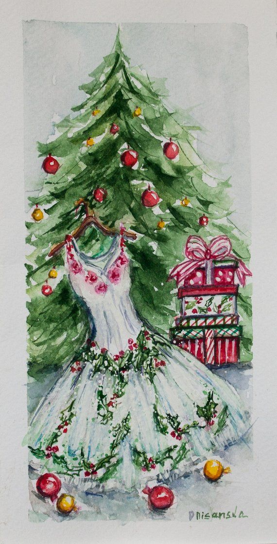 Fashion Christmas Card Merry Christmas Card Fashionista Gift Unique Holiday Card Happy New Year Card Handmade Card Fashion Christmas