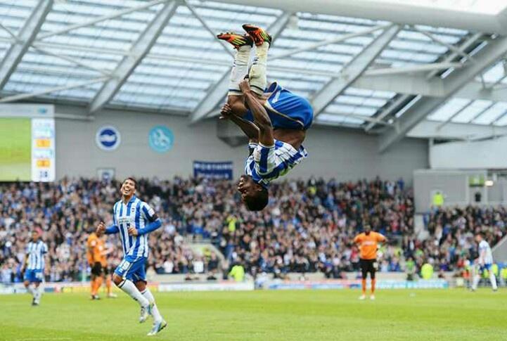 Kazenga Lua Lua Celebrates Goal Against Wolves