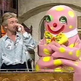Noel Edmonds and Mr Blobby on Noel's House Party