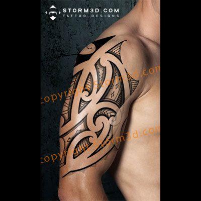 Maori tribal calf tattoos, high quality flash design with linedrawing