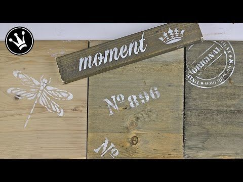 DIY-Video-Tutorial: Used-Look für unbehandelte Holzmöbel: Silbergraue Treibholzoptik | diemoebelbloggerin