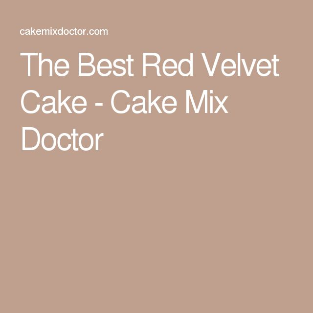 cake mix doctor red velvet