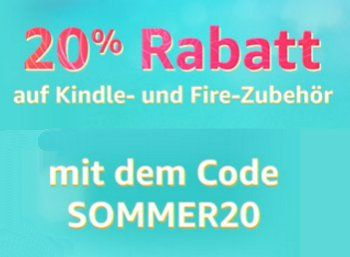 Amazon: 20 Prozent Rabatt auf Zubehör für Kindle- und Fire-Produkte https://www.discountfan.de/artikel/technik_und_haushalt/amazon-20-prozent-rabatt-auf-zubehoer-fuer-kindle-und-fire-produkte.php 59 verschiedene Zubehörartikel für Amazons Kindle und Fire sind jetzt mit einem Sonder-Rabatt von 20 Prozent zu haben. Der Gutschein ist ab sofort und nur bis zum 6. August 2017 einlösbar. Amazon: 20 Prozent Rabatt auf Zubehör für Kindle- und Fire-Produkte (Bild: Amazon.de)