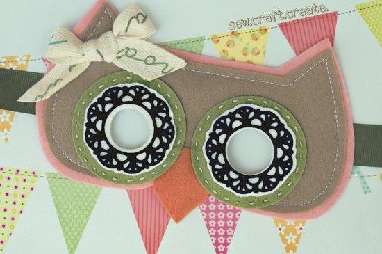 cute owl mask @HeidiMasks Stuff, Diy Masks, Ideas, Masks Heidi, Heidi Haugen, Masks Tutorials, Owls Masks, Diy Owls, Crafts
