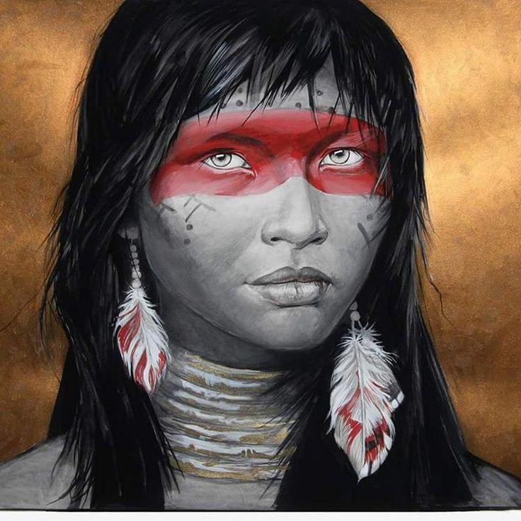"""""""Red Indian"""" Tempera & Gold paint """"Idea"""" on Paper. Обещанное видео уже на моем арт #youtube канале #artshima 😉 🎥 Ну а на фото моя 3х часовая работа """"Индеанка""""(фрагмент). Выполнена Темперой и любимыми металиками idea (самый темный медный) на Ватмане (бумага для черчения) А2🖌🗿 #портрет#темпера#артблог#portraitdrawing#portrait#youtuber#portaitpainting#рисунок#графика#артшима#tempera#fineart#dailyart#worldofartists#painting#paintguide#gold"""