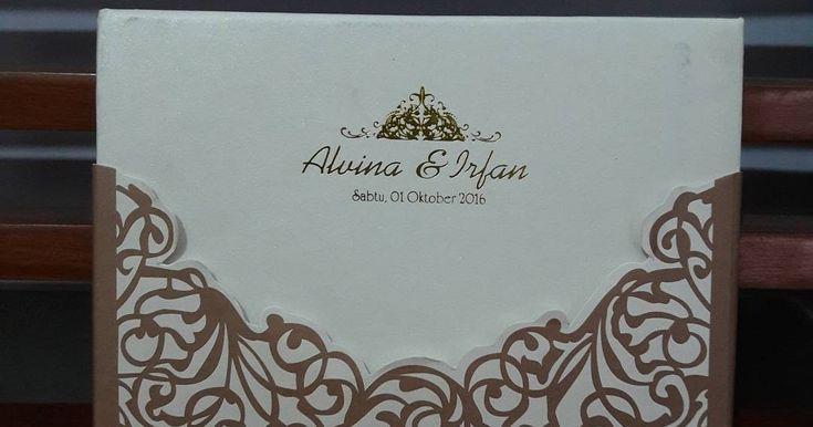 Undangan Hardcover Alvina & Irfan // 081322349644 Nuela Percetakan