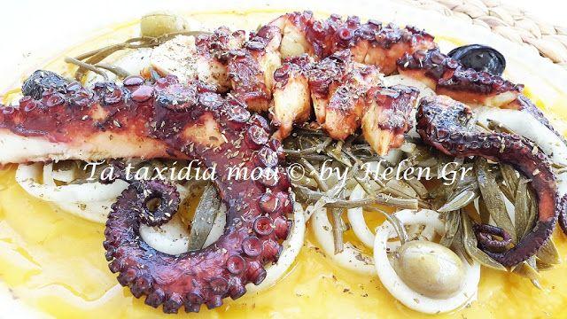 Τα ταξίδια μου : Κρέμα Φάβας με Κρασάτο Χταπόδι - Fava, Yellow Split Pea with Octopus in Wine