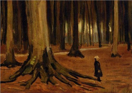 Girl in the Woods - Vincent van Gogh