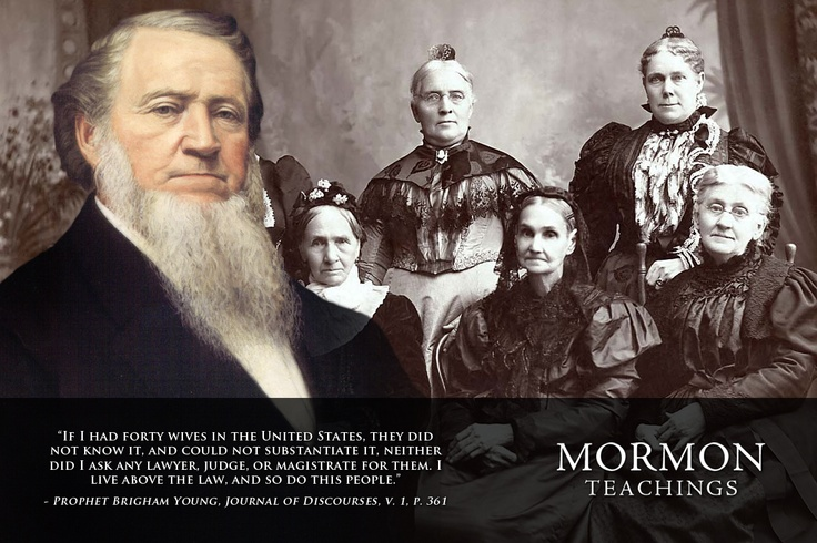 Lies from Brigham Young about Mormon polygamy. SO thankful to be an ex-mormon!!!