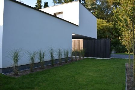 49 best images about houten gevelbekelding stuyts realisatie on pinterest vests we and free - Bungalow ontwerp hout ...